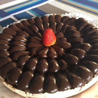 Torta de nuez y chocolate